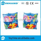 pvc Yes inflatable armbands with logo printing, baby swimming rings