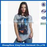 Wholesale blank breathable 100% organic cotton maternity women t-shirts