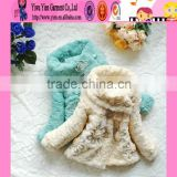 2015 Wholesale Princess Girl Winter Coat Dress Custom Thicken Warm Cheaper Wool Coat For Baby