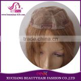 100% Human Remy Hair full lace Wigs With mono net light brown color