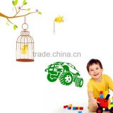 Free Shipping New arrive vinyl wall stickers Tree and bird cage home decor wall decals for kids rooms JM8298