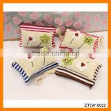 Fashion Stripe Hand Sewing Beads Fabrics Woman Coin Wallet Wholesale ZTCW-0022