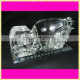 Personalized Engraved Crystal Mixer Track Model For Building Company Souvenirs