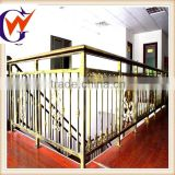 Portable galvanized steel stair railing for office using