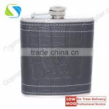 Promotional leather stainless steel hip flask ,Marketing Gift leather stainless steel hip flask