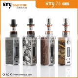 Dry Herb E Cig Wholesale China electronic cigarette Smy75w starter kit mini box mod 75w mods new arrival