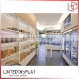 Bakery shop design MDF structure bakery shop furniture