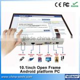 10.inch 1080P indoor open frame full hd android tv network ethernet oem lcd touch screen digital signage advertising equipment