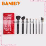 Shenzhen makeup brush mini set journey use powder make-up brushes set 8pcs