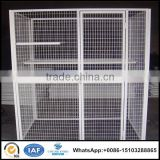 Wholesale 3'*5' silver color metal frame cat cage welded wire mesh pet play house China manufacture