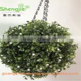 SJLJ013371 artificial hanging plant / artificial plastic boxwood ball for wedding / event decoration