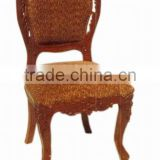 Wood carving Home furniture Chair, Wooden living room chair
