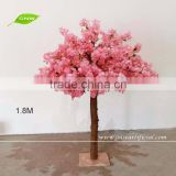 GNW BLS1605001 Silk Cherry Blossom Tree Types Of Ornamental Plants Artificial Tree For Weddings
