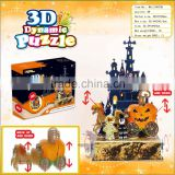 new arrival 3D DIY rotation Halloween puzzle/ moveable puzzle/ educational paper puzzle