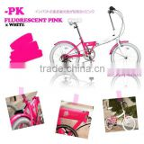 Colorful Folding Bicycle Japanese Design MINIVELO with Shimano part