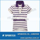 Functional Xiamen Sportex stripe polo, stripe polo shirt, stripe polo shirts OEM#13175