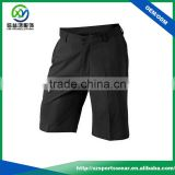 Woven fabric polyester dry fit stretch fabric mens black color golf short pants