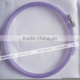 wholesale colorful embroidery frames cheap plastic hoops frosted embroidery hoop cross stitch 15cm 18cm 21cm