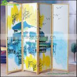 Living room partition, lows room partition,changing room partition panels printing canvas folding screen GVSD006