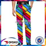 Sale multicolor heat transfer mens printed golf pants