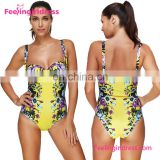 Attractive High Cut One Piece Swimwear Brazilian Women Mature Woman Bikini