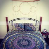 Mandala Duvet / Doona Covers Handmade Cotton Fabric Ethnic Art Indian Handmade Blanket Cover With Pillow Covers