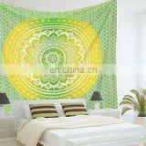 Ombre Mandala Hippie Tapestry Beach Throw Blanket Indian bedspread Indian Tapestry Queen Wall Hanging picnic Decor art Wholesale