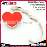 custom designs heart portable punching stand metal bag hanger