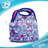 Top Zipper Enclosure Fashion Lunch Tote Bag