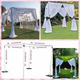 wedding pipe and drape, adjustable uprights and Telescopic crossbar
