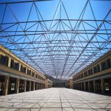 Steel Grid Shed of Closed Sandstone Material yard Good lighting steel structure grid Structure