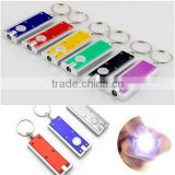 Promotional Logo Printed Rectangle LED Flashlight Keychain                                                                         Quality Choice