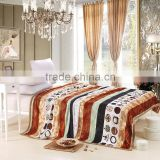 Super soft thick warm blanket high quality knitted striped pattern China texitle blanket