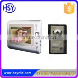 AC 100~240V Power and COMS Camera 4 Wired Colour Handsfree Audio Intercom Video Door Phone