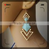 alloy jewelry copper brass plating gold beautiful earring gold earring designs