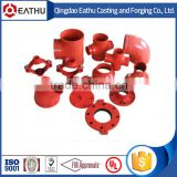 FM UL list grooved ductile iron pipe fitting