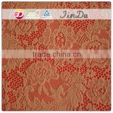 Durable popular brown lace fabric for women dressing