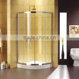 Portable Corner Sector Fiberglass Shower Cabins Readly Made Tempered laminated glass Shower Enclosures Hotel Bathroom Equipment