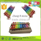 Cheap And High Quality Wooden Musical 8 Stone Xylophone Toys, Wooden Music Set For Kids                                                                         Quality Choice