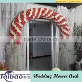 China wholesale artificial flower heads and plastic frame DIY wedding flower arch                                                                         Quality Choice