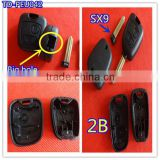 Tongda car key TD-PEU042 KEY.no logo , high qualty 2 button SX9 key for peugeot with big holes