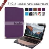 "Shenzhen F&C hand-crafted premium PU leather Material folio cover for macbook air case 11"" 12"" 13"" 15"" Compatible"