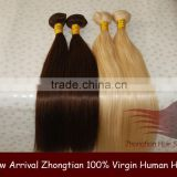 High Quality 16inch Silk Straight 100% Remy Human Hair Weft