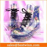 2013 PVC transparent lady and kids rain boots and shoes