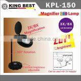 KING BEST 360 Degree Rotation USB DC 5V table lamps ECO Eye Protection Led light Newspapers Reading magnifying glass Light
