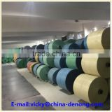 Colorful woven bag rolls / fabric roll / PP woven tubular fabric(blue, red, green, yellow PP woven bags)