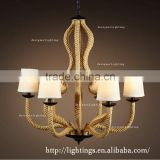 lamps and lanterns zhongshan restoration hardware new design stage lamp hemp rope chandelier