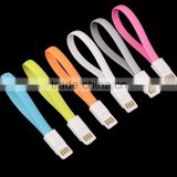 wholesale promotional flat magnet data charger cable for iphone 5/6