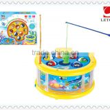 wholesale kids lovely design B/O plastic fishing game toys
