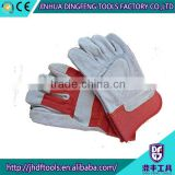 10.5 inches full palm cow split leather working gloves machine